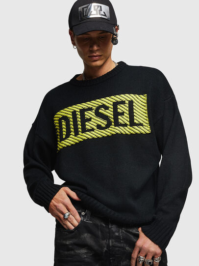 Diesel - K-LOGOX-C, Black - Knitwear - Image 1