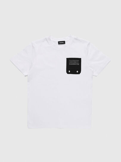 Diesel - TBMOW, White/Black - T-shirts and Tops - Image 1