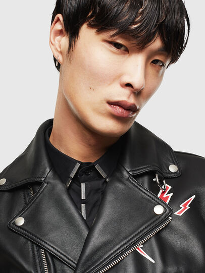 Diesel - CL-L-GOTIV-LITM, Black - Leather jackets - Image 4
