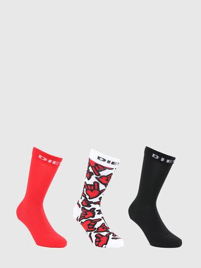 Diesel - SKM-HERMINE-THREEPACK, Red/Black - Socks - Image 1