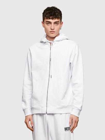 Diesel - S-GIRK-HOOD-ZIP-COPY, White - Sweaters - Image 1