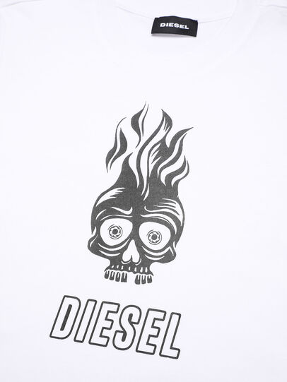 Diesel - TUSILYWQ, White - T-shirts and Tops - Image 3