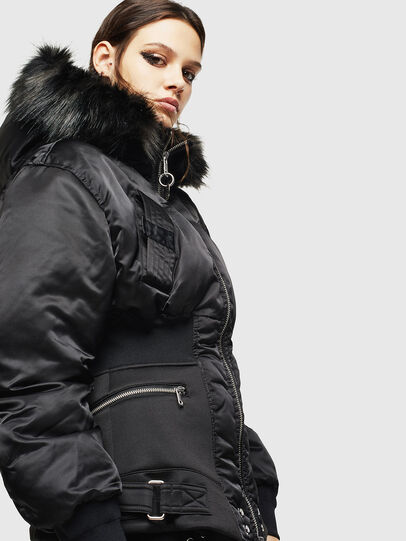 Diesel - W-ISOKE-A, Black - Winter Jackets - Image 4