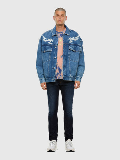 Diesel - D-RAF, Medium blue - Denim Jackets - Image 6