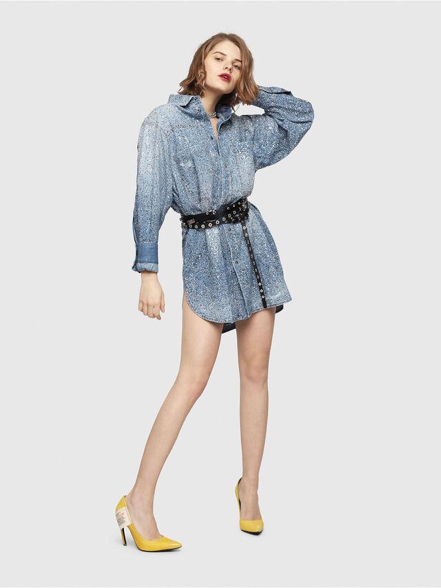 Diesel - DE-SUP-S, Blue Jeans - Dresses - Image 1