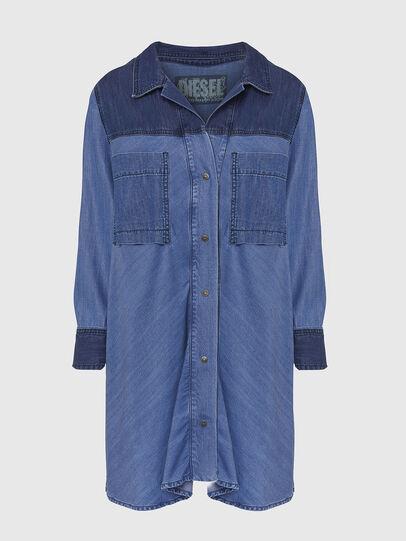 Diesel - DE-NILLA, Light Blue - Denim Shirts - Image 1