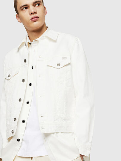 Diesel - D-BRAY, White - Denim Jackets - Image 4
