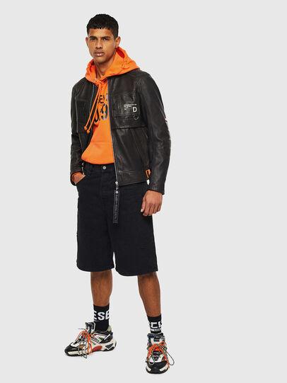 Diesel - L-DIXON, Black - Leather jackets - Image 8