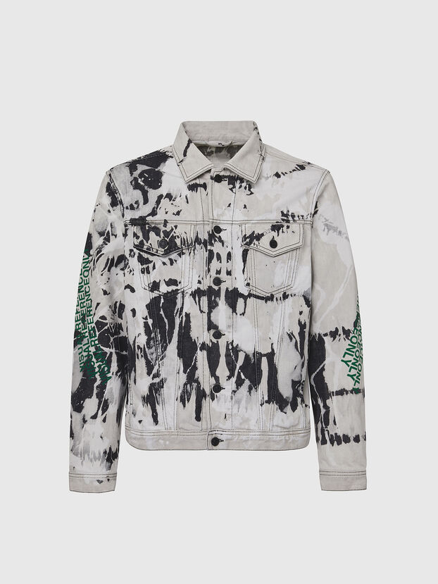 NHILL-SP3, White/Black - Denim Jackets