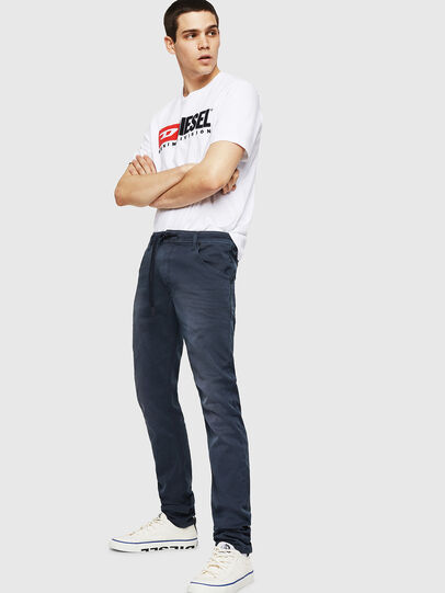 Diesel - Krooley Long JoggJeans 0670M, Dark Blue - Jeans - Image 4