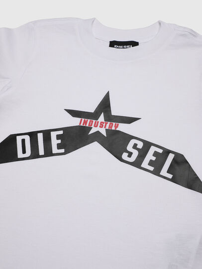 Diesel - TDIEGOA7B-R, White - T-shirts and Tops - Image 3