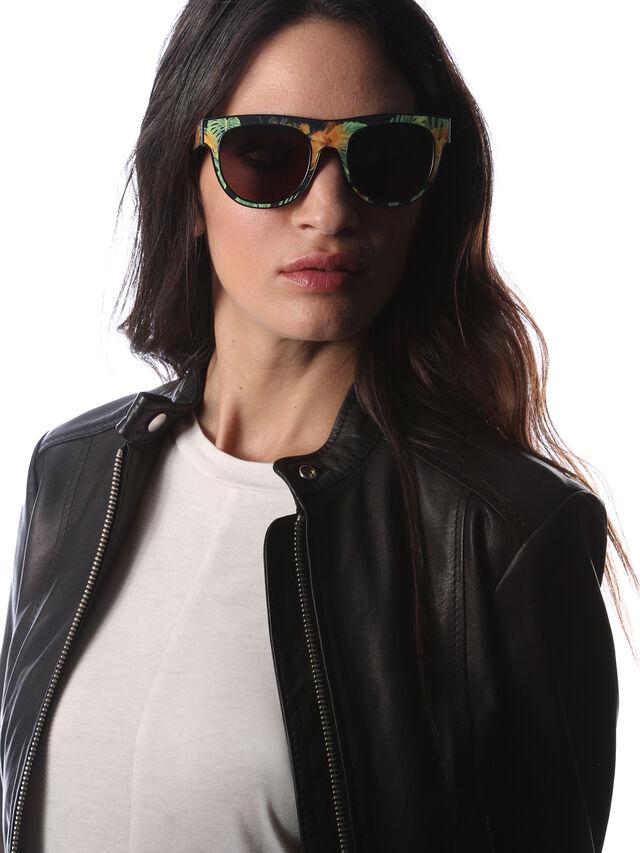Diesel - DM0160, Black/Orange - Eyewear - Image 6