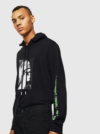 Diesel - T-JUST-LS-HOOD-J5, Black - T-Shirts - Image 4