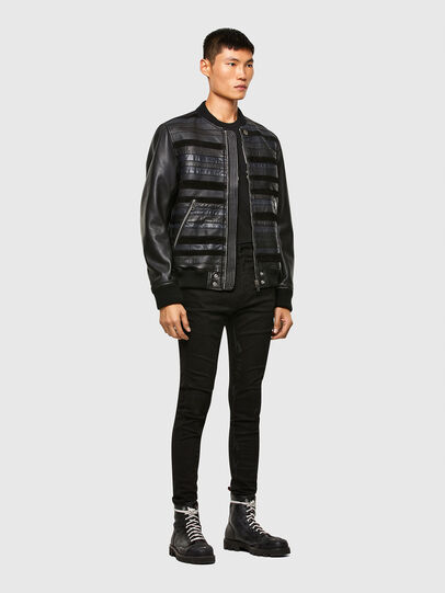 Diesel - L-ROGER, Black - Leather jackets - Image 6