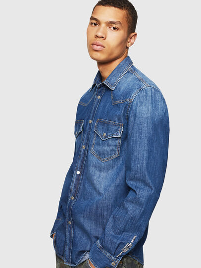 Diesel - D-EAST-P,  - Denim Shirts - Image 4