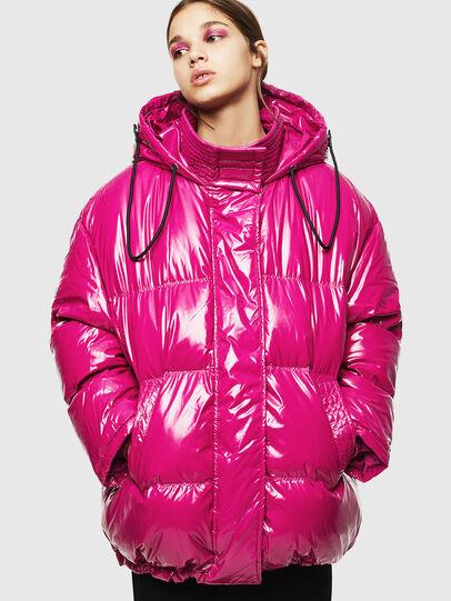 Diesel - W-ALLA, Pink Fluo - Winter Jackets - Image 1