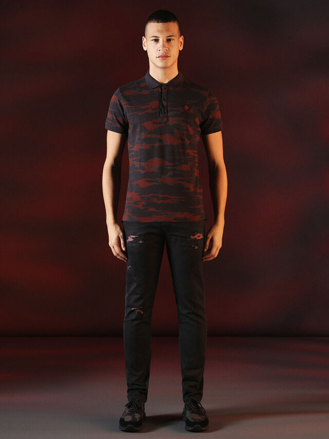 Diesel - DVL-POLO-SPECIAL COLLECTION, Red/Black - Polos - Image 5
