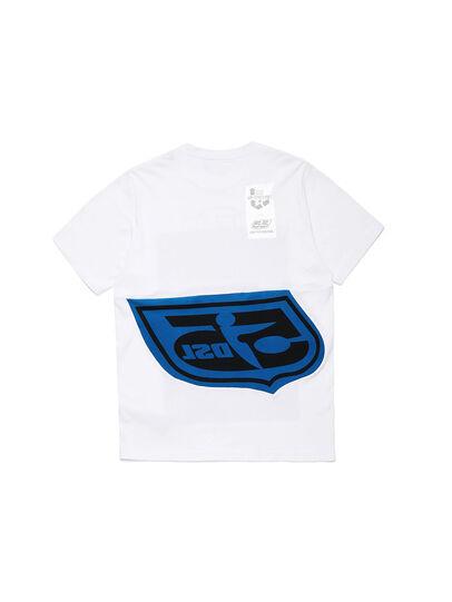 Diesel - D-SHIELD-BLU, White - T-Shirts - Image 2