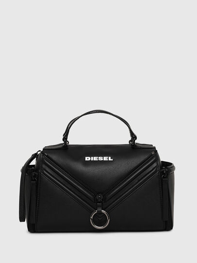 Diesel - LE-ZIPPER SATCHEL, Black - Satchels and Handbags - Image 1