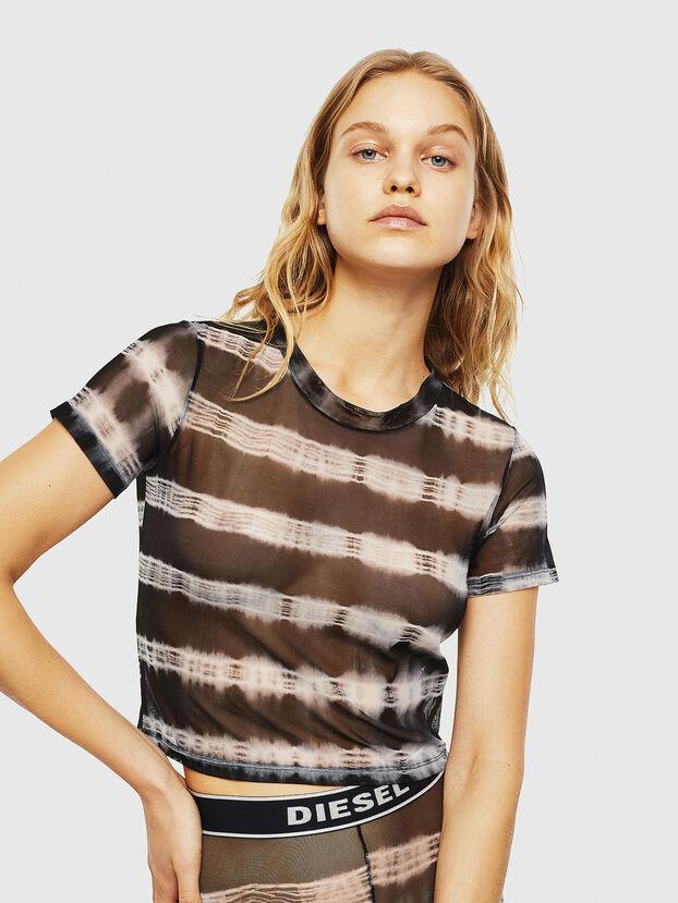 UFTEE-ROUNDFEM-M, Black/White - T-Shirts