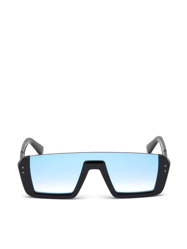 Diesel - DL0248, Bright Black - Eyewear - Image 1