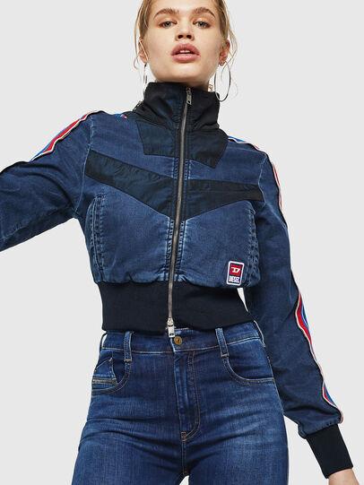 Diesel - Slandy High 089AJ, Dark Blue - Jeans - Image 3
