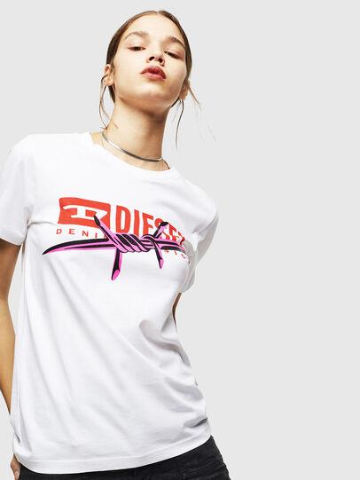 Diesel - T-SILY-ZC, White - T-Shirts - Image 1