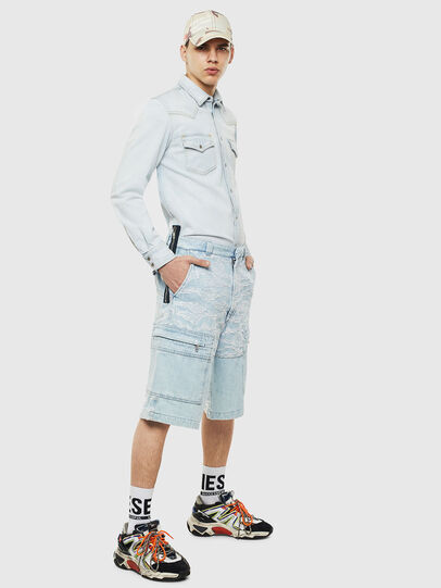 Diesel - D-EAST-P, Light Blue - Denim Shirts - Image 6