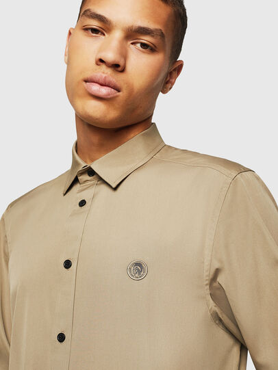 Diesel - S-BILL, Military Green - Shirts - Image 3