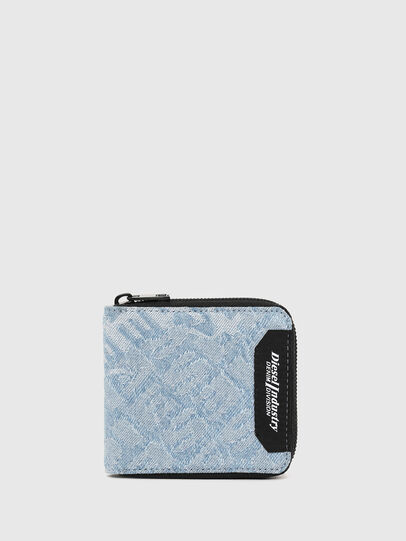 Diesel - ZIPPY HIRESH S, Blue Jeans - Zip-Round Wallets - Image 1
