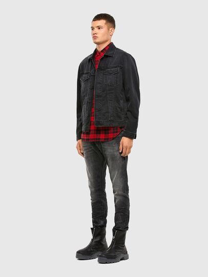 Diesel - S-EAST-LONG-CHK, Black/Red - Shirts - Image 5