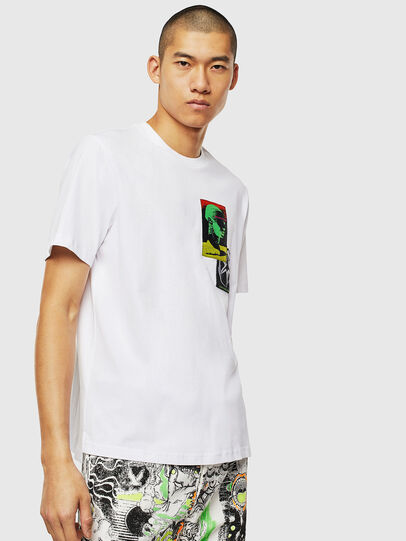 Diesel - T-JUST-SLITS-J18, White - T-Shirts - Image 1