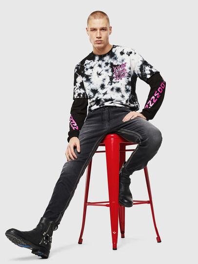 Diesel - Krooley JoggJeans 0094Q, Black/Dark grey - Jeans - Image 5