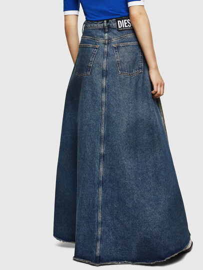 Diesel - DE-SHIRLEY, Medium blue - Skirts - Image 2