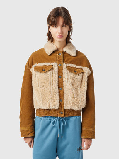 Diesel - W-ARY, Light Brown - Winter Jackets - Image 1