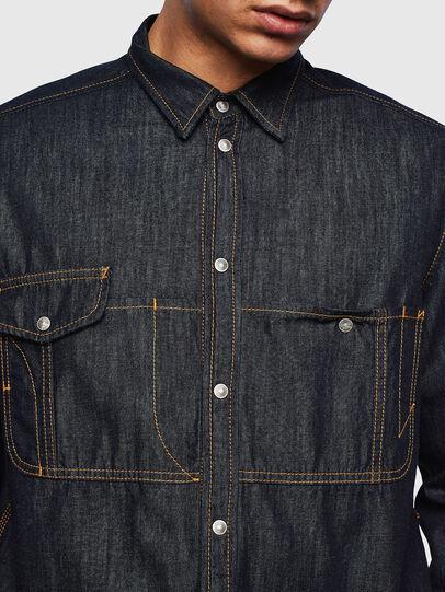 Diesel - D-MILLY, Dark Blue - Denim Shirts - Image 5