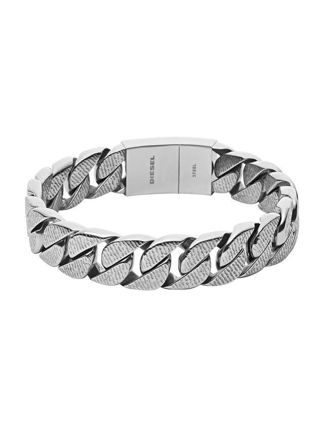 Diesel - BRACELET DX0914, Silver - Bracelets - Image 1