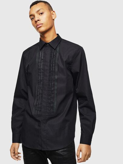 Diesel - S-PLIS, Black - Shirts - Image 1