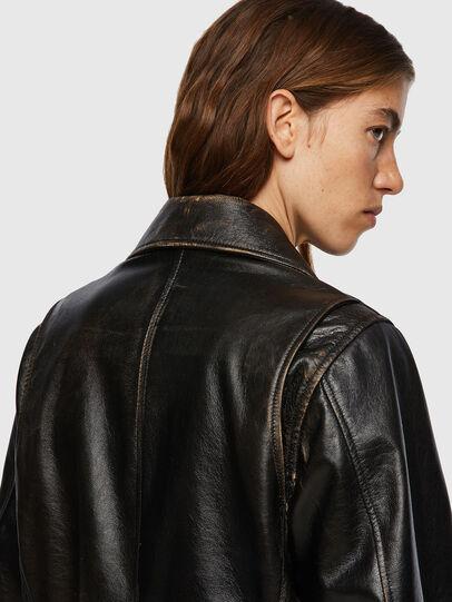 Diesel - L-EDMEA, Black - Leather jackets - Image 5