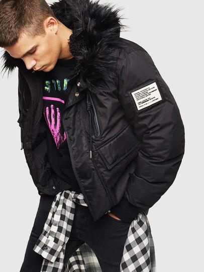 Diesel - W-BURKISK, Black - Winter Jackets - Image 6