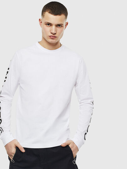 Diesel - T-JUST-LS-T14, White - T-Shirts - Image 1