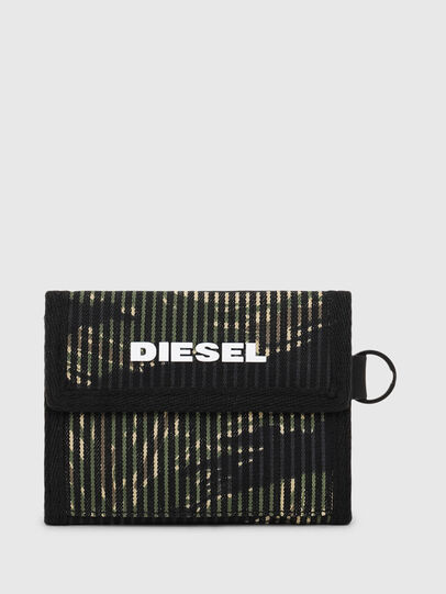 Diesel - YOSHI, Black/Green - Small Wallets - Image 1
