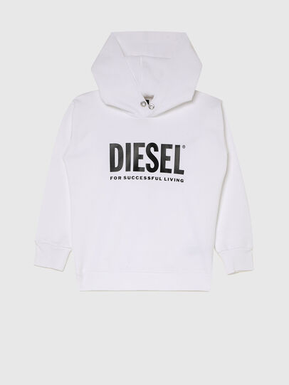 Diesel - SDIVISION-LOGOX OVER, White - Sweaters - Image 1