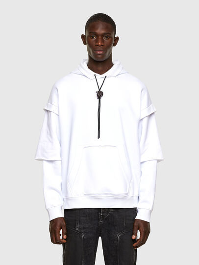 Diesel - S-UBBER-A1, White - Sweaters - Image 1