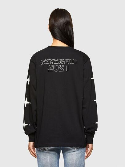 Diesel - CL-T-JUST-LS-O, Black - T-Shirts - Image 4