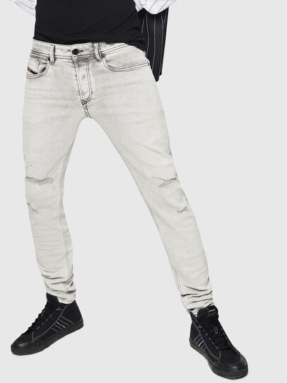 Diesel - Sleenker 0090F, Light Grey - Jeans - Image 1
