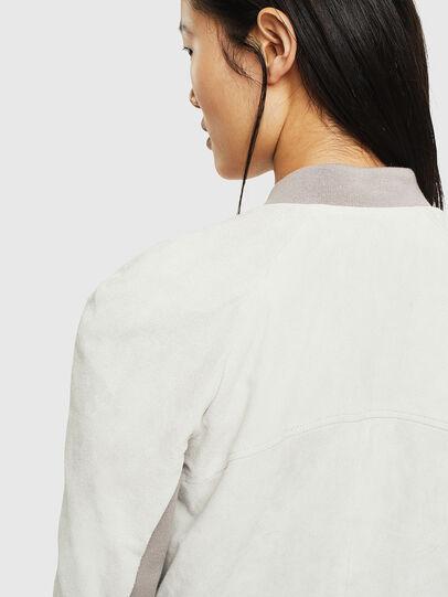 Diesel - L-CERITE, White - Leather jackets - Image 5