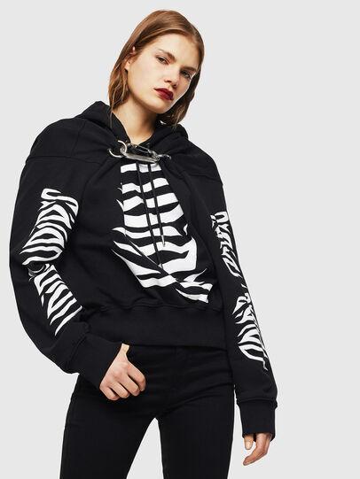 Diesel - F-ALBYHOOK-C, Black - Sweaters - Image 1