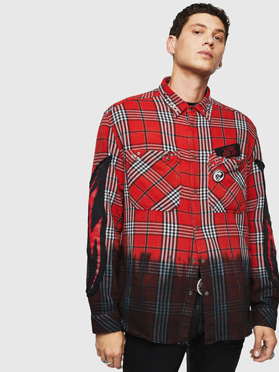 Diesel - S-MIRAV, Light Red - Shirts - Image 1