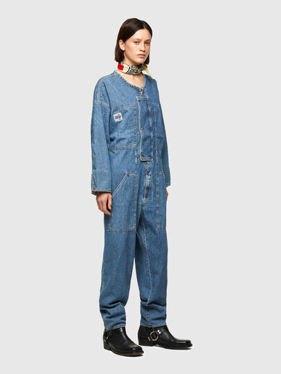 Diesel - DxD-TUTA, Light Blue - Jumpsuits - Image 9